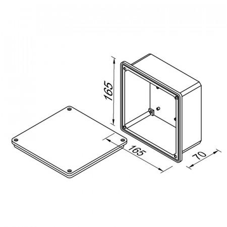 Коробка фасадна зовнішня 117х117х58 мм