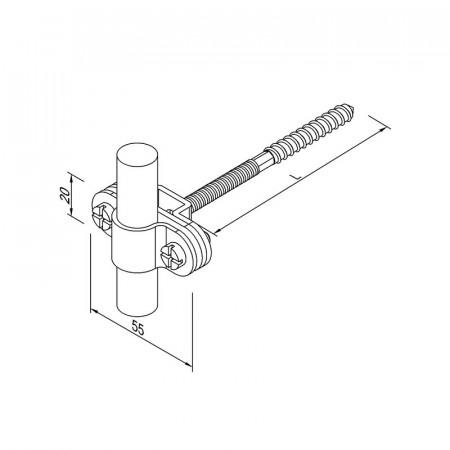 Кріплення Fix L200 для блискавкоприймача D16