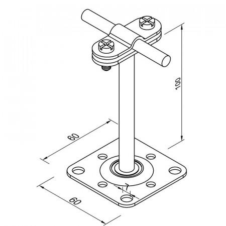 Тримач дроту L100 з саморізами 4.8х35 мм