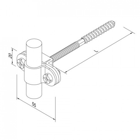 Кріплення Fix L70 для блискавкоприймача D16