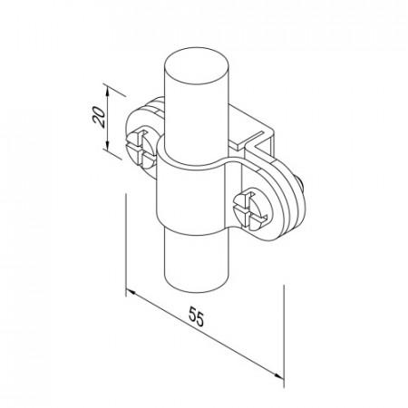 Кріплення Fix для блискавкоприймача D16