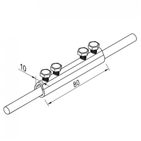 З'єднувач трубчастий D8-10